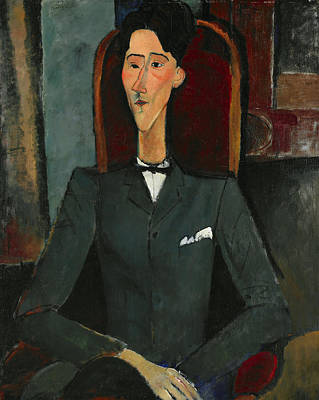 Portraits Painting - Jean Cocteau by Amedeo Modigliani