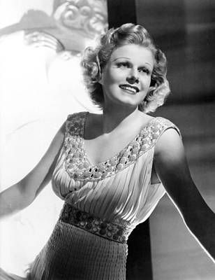 Jean Harlow, Just After Getting Art Print by Everett