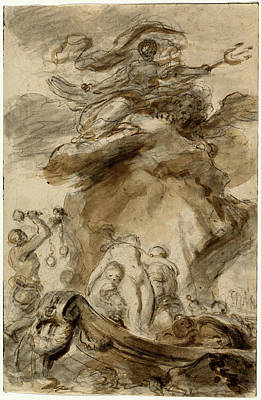 Exposed Drawing - Jean-honoré Fragonard, Angelica Is Exposed To The Orc by Litz Collection