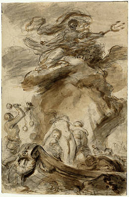 Exposed Drawing - Jean-honoré Fragonard, Angelica Is Exposed To The Orc by Quint Lox