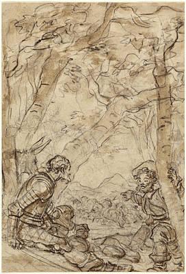 Jean-honoré Fragonard, Don Quixote And Sancho Panza Art Print