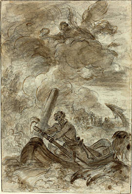 Wash Drawing - Jean-honoré Fragonard French, 1732 - 1806 by Quint Lox