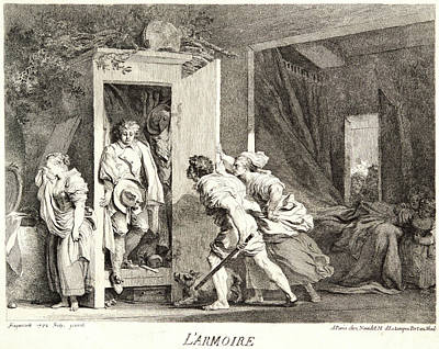 Jean-honoré Fragonard French, 1732 - 1806. The Cupboard Art Print