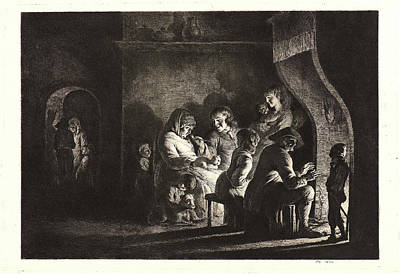 Jean Jacques De Boissieu French, 1736-1810. Family Art Print by Litz Collection