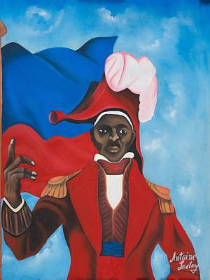 Haitian Painting - Jean Jacques Dessalines by Antone Laday