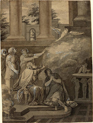 Wash Drawing - Jean-jacques-françois Le Barbier I, French 1738-1826 by Litz Collection