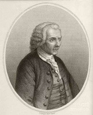 Jean Jacques Rousseau, French Philosopher Art Print by British Library