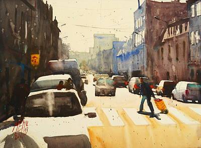 Jean Jaures Street Art Print by Andre MEHU