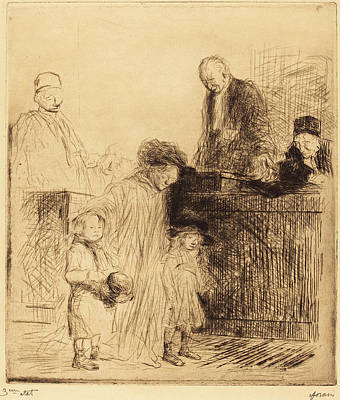 Jean-louis Forain, Coming Out Of The Hearing First Plate Art Print by Quint Lox