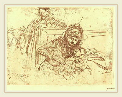 Jean-louis Forain, Evidence At The Hearing First Plate Art Print by Litz Collection