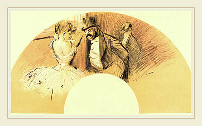 Jean-louis Forain, Fan, French, 1852-1931 Print by Litz Collection