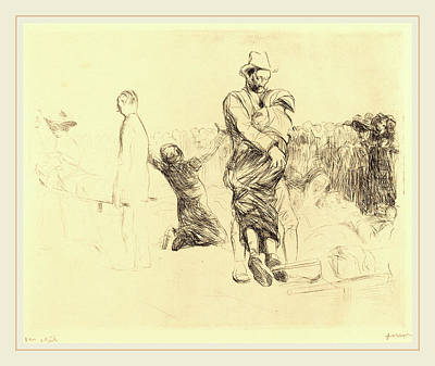 Jean-louis Forain, Lourdes, Transport Of The Paralyzed Art Print by Litz Collection