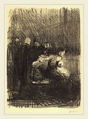 Jean-louis Forain, Recess Of The Hearing Art Print by Litz Collection