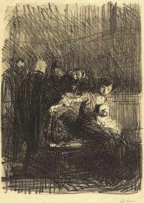 Jean-louis Forain, Recess Of The Hearing Art Print by Quint Lox