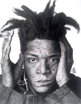 Drawing - Jean-michel Basquiat Drawing by Angelee Borrero