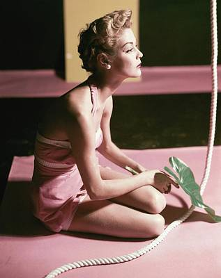 Bathing Suit Photograph - Jean Patchett Wears A Crompton Velveteen Bathing by Horst P. Horst