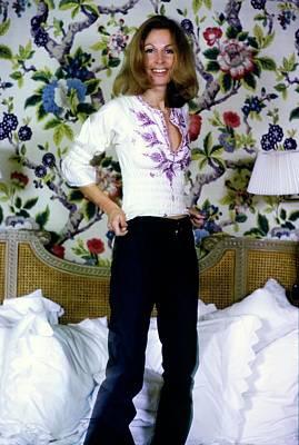 Room Photograph - Jean Vanderbilt In Her Bedroom by Arthur Elgort