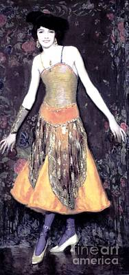 Mora Painting - Jeanne Cartier - Dancer by Roberto Prusso