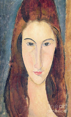 Faces Painting - Jeanne Hebuterne by Amedeo Modigliani