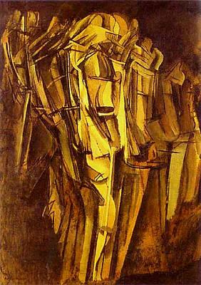 Jeanne Homme Triste Dans Un Train  Print by Marcel Duchamp