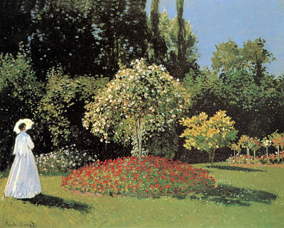 Marguerites Painting - Jeanne-marguerite Lecadre In The Garden by Claude Monet