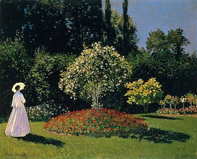 The Hermitage Painting - Jeanne-marguerite Lecadre In The Garden Sainte-adresse by Claude Monet