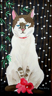 Painting - Jeannie's Siamese Cat by Monique Montney