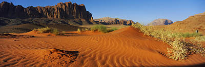 Qatar Photograph - Jebel Qatar From The Valley Floor, Wadi by Panoramic Images
