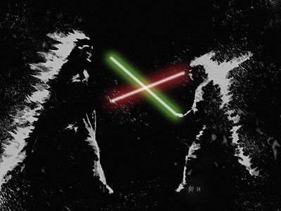 Jedi Duel Art Print