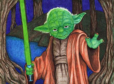 Drawing - Jedi Grand Master by Jennifer Allison