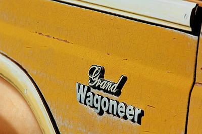 Jeep Photograph - Jeep Grand Wagoneer Side Emblem by Jill Reger