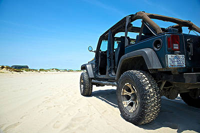 Outer Rim Photograph - Jeep In The Sand by Brad Hartig - BTH Photography