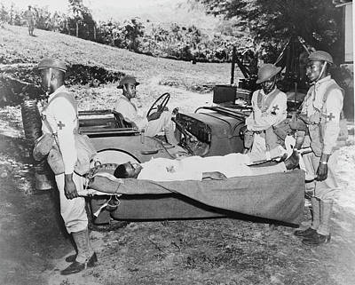 Back Injury Photograph - Jeep Used As A Field Ambulance By U.s by Stocktrek Images