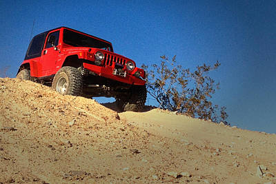 Photograph - Jeepin' The Mojave by Bill Swartwout