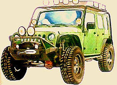 Etc. Painting - Jeeps by Suhaimy Abdullah
