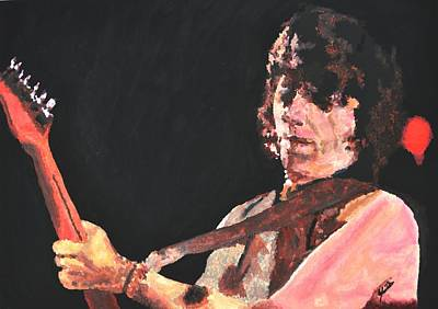 Led Zeppelin Drawing - Jeff Beck by Paula Sharlea