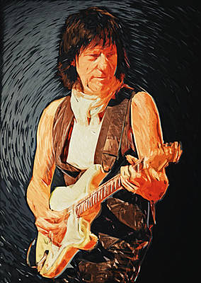 Fusion Digital Art - Jeff Beck by Taylan Apukovska