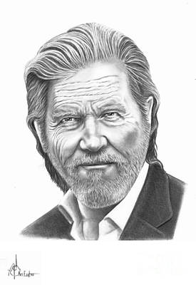 Jeff Bridges Art Print by Murphy Elliott
