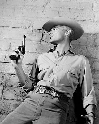 Jeff Chandler In Man In The Shadow  Art Print by Silver Screen