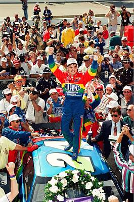 Jeff Photograph - Jeff Gordon At The Brickyard by Retro Images Archive
