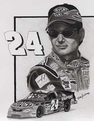 Jeff Gordon Art Print by Billy Burdette