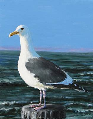 Painting - Jeff The Seagull by Jack Skinner