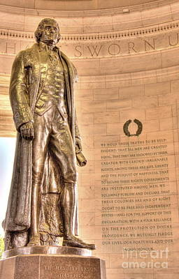 Photograph - Jefferson - All Men Created Equal by Jonathan Harper
