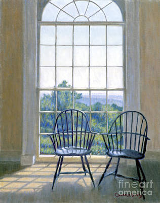 Thomas Jefferson Painting - Jefferson And A Friend At Monticello by Candace Lovely