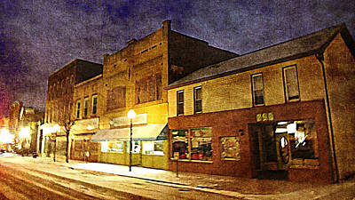 Jefferson Avenue On A Cold Winters Night Art Print