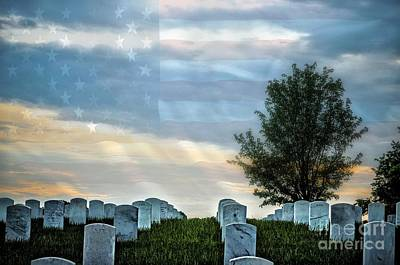 Photograph - Jefferson Barracks National Cemetery by Peggy Franz