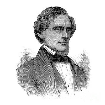 Photograph - Jefferson Davis 1886 Portrait by Phil Cardamone