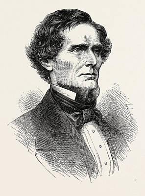Jefferson Davis, He Was An American Statesman And Leader Art Print by English School