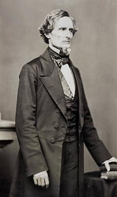 Photograph - Jefferson Davis by Underwood Archives
