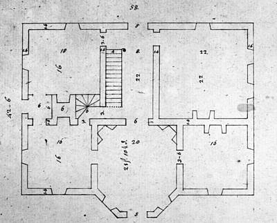 Carousel House Photograph - Jefferson: Floor Plan by Granger
